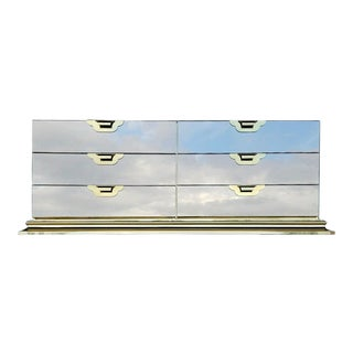 Ello Mastercraft Hollywood Regency Mirror Brass Dresser For Sale