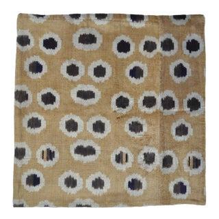 Velvet Throw Pillow With Fun Dots