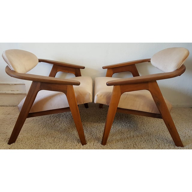 Adrian Pearsall Craft Captain Chairs - Pair - Image 4 of 8