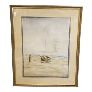 """""""Mist"""" Watercolor by Gregory Spencer Hill in Frame For Sale"""