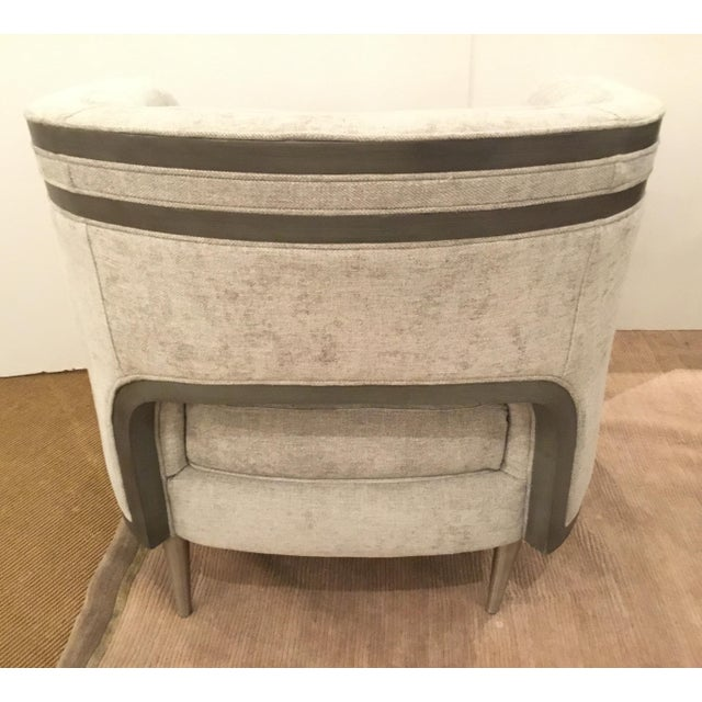 Caracole Modern Tranquil Gray Club Chair For Sale In Atlanta - Image 6 of 7