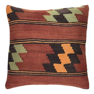 """Rustic MidCentury Kilim Pillow 