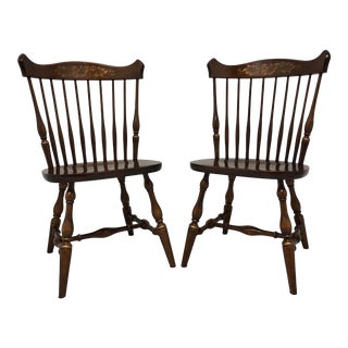 Windsor Style Maple Hitchcock Dining Side Chairs - 1 - a Pair For Sale