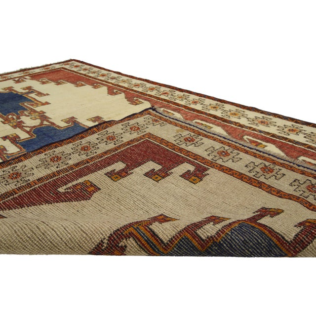 1970s Vintage Shiraz Persian Rug with Modern Tribal Style For Sale - Image 5 of 6