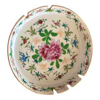 Chinoiserie Porcelain China Ashtray/Trinket Dish For Sale