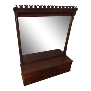 19th Century Mantel Mirror Bench For Sale