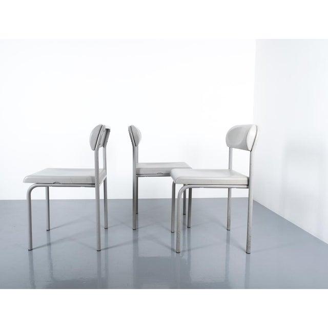 Bieffeplast One of Seven Ettore Sottsass Greek Chairs Grey Bieffeplast, Italy, 1980 For Sale - Image 4 of 13