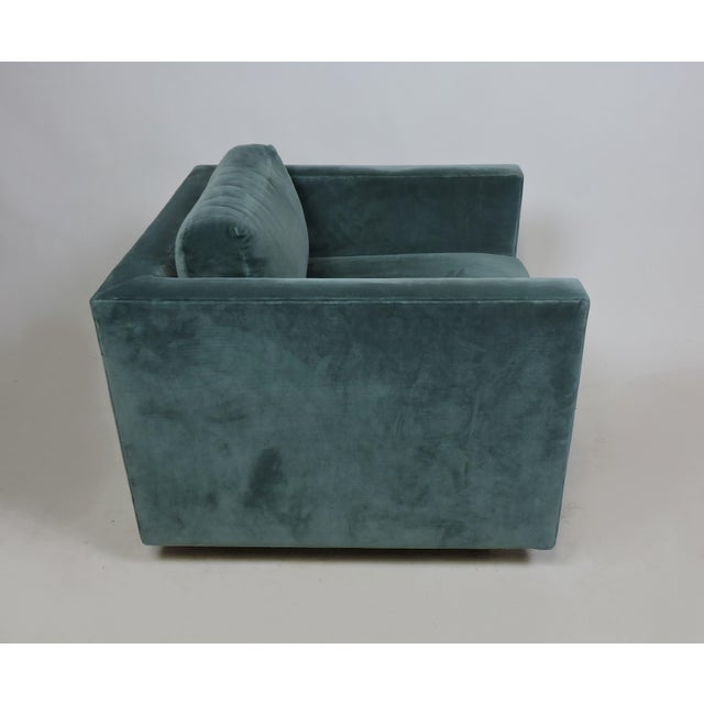 1980s Mid-Century Modern Wormley Probber Style Cube Lounge Chair For Sale - Image 5 of 12
