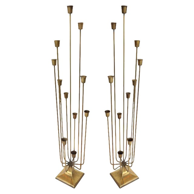 """""""Teo"""" 11 Cup Candleholders - a Pair For Sale"""