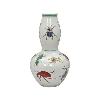 Porcelain Double Gourd Beetle Vase For Sale