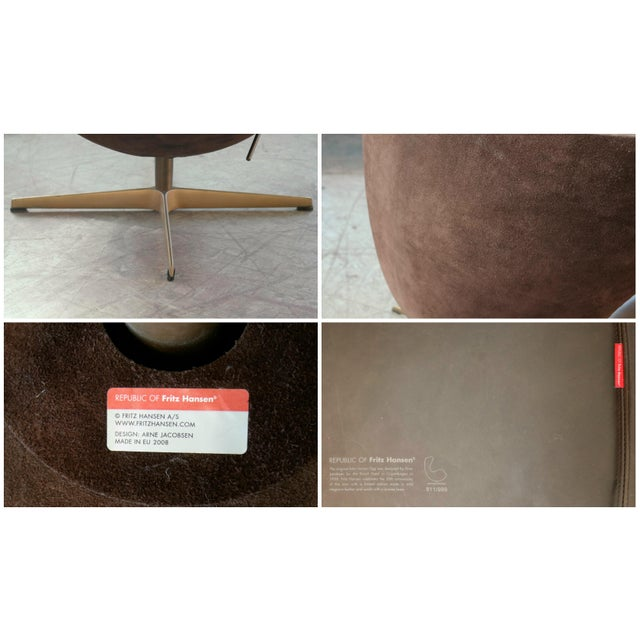 Golden Egg Chair Special Anniversary Edition by Fritz Hansen For Sale - Image 10 of 11