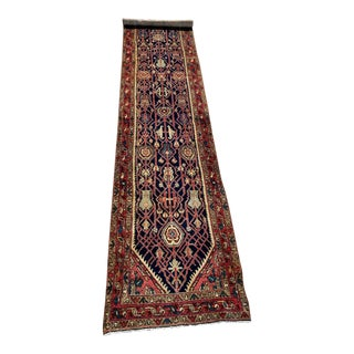 Vintage Long Persian Tribal Runner - 3′6″ × 16′6″ For Sale