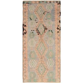 "Handmade Turkish Kilim, 5'5"" X 11'11"" For Sale"