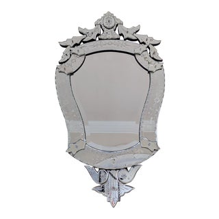19th Century Antique Venetian Mirror With Bevelled Glass Detail For Sale