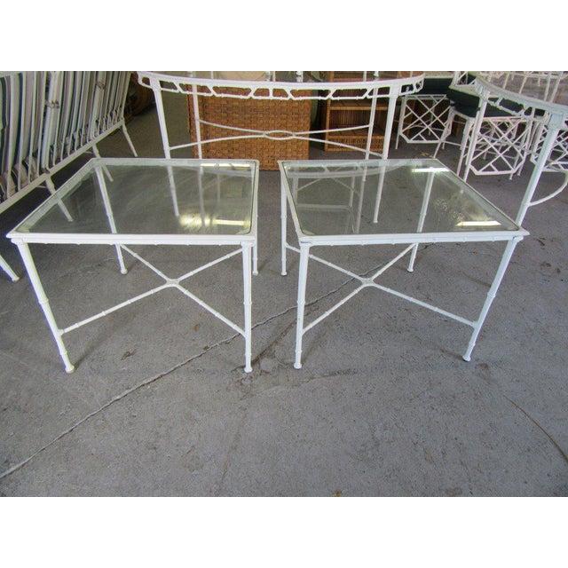 Transparent Brown Jordan Side Tables - a Pair For Sale - Image 8 of 8