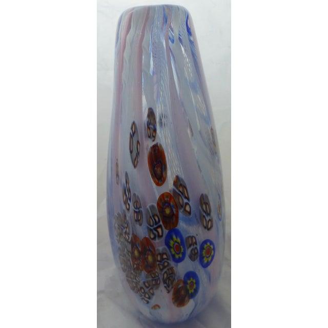 Murano Glass Vase With Milleforia Latticino Cane - Image 4 of 9