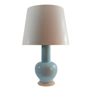 Bungalow 5 Gardiner Lamp Light Blue With Shade For Sale