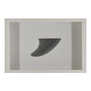 Vintage Surf Board Fin FramedFramed in Shadowbox For Sale