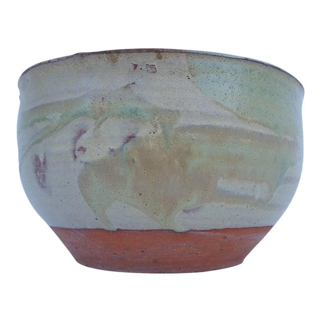 Vintage Drip Glaze Fat Lava Planter Pot . For Sale
