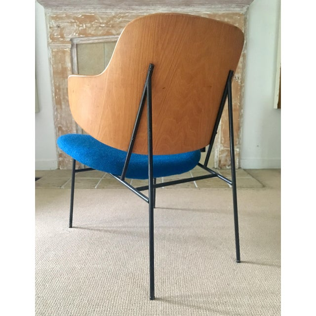 "Ib Kofod Larsen ""Penguin"" Chair in Blue - Image 9 of 11"