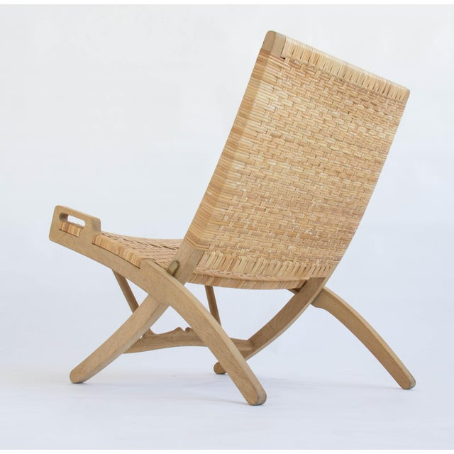 Tan Hans Wegner Folding Lounge Chairs - A Pair For Sale - Image 8 of 11