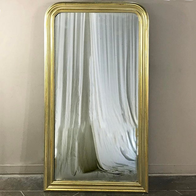 19th Century French Louis Philippe Gilded Mirror For Sale - Image 9 of 9