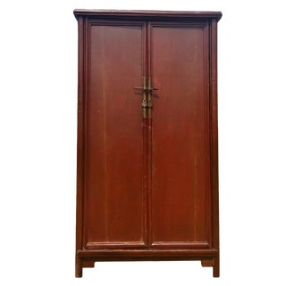 Antique Ming Noodle Cabinet, Brown Red For Sale