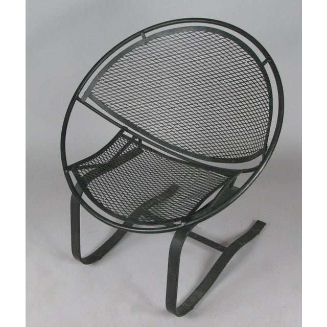 Salterini Wrought Iron Radar Lounge Chairs by Salterini, Circa 1950 - a Pair For Sale - Image 4 of 8