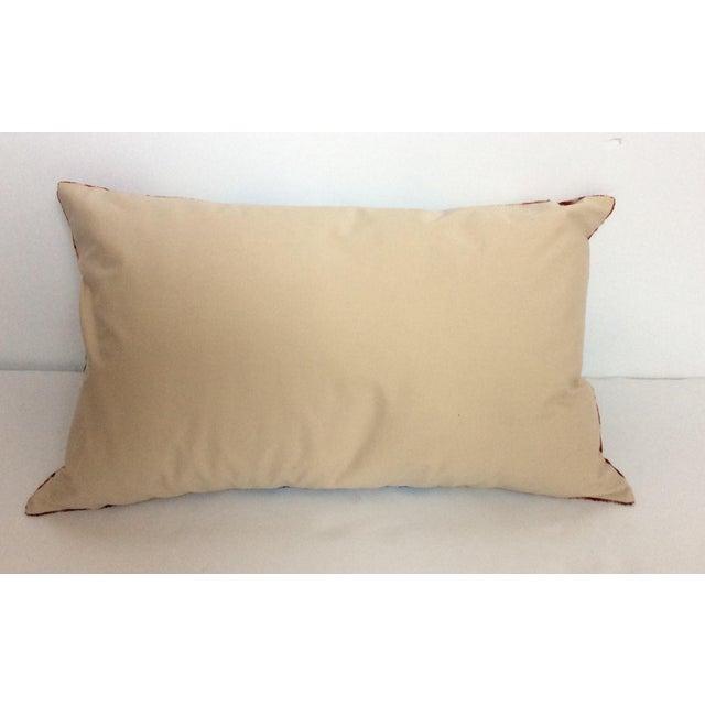 Purple Silk Velvet Ikat Pillow - Image 3 of 5