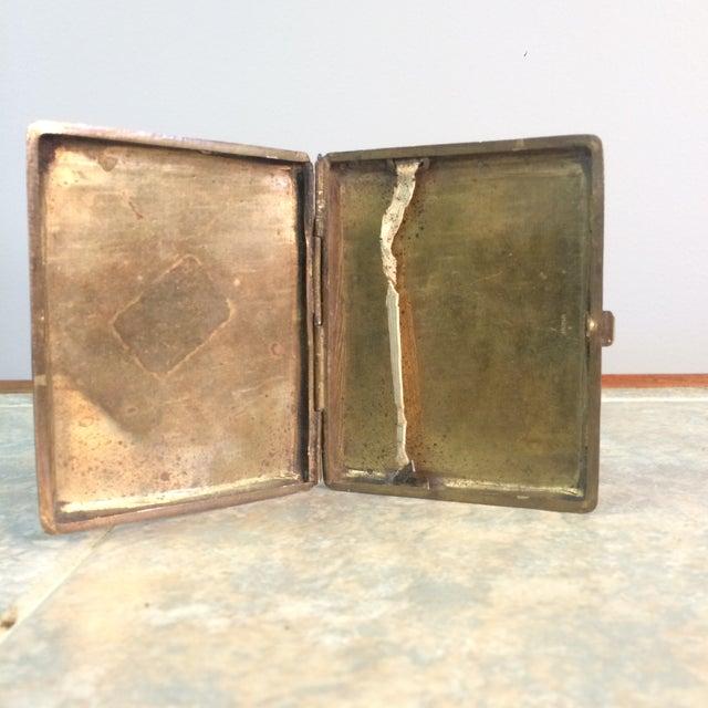 Antique Brass Cigarette Case - Image 4 of 5