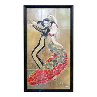 1955 Tango Dancers Wall Tile For Sale