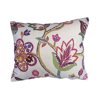 Pierre Frey Embroidered Floral Pillow