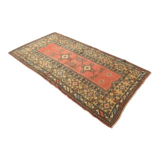 """Hand Knotted Rug Naturally Dyed Fine Milas Rug - 4'2"""" X 7'9"""" For Sale"""