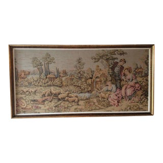 Gold Gilt Framed French Wall Tapestry