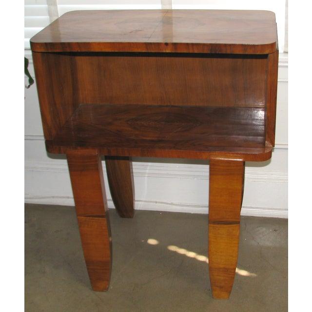 French Art Deco Burl Wood Cabinet / Liquor Bar - Image 2 of 11
