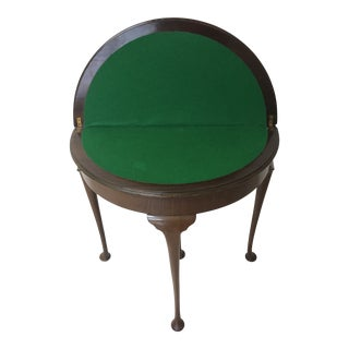 Queen Anne Allen and Appleyard Game Table For Sale