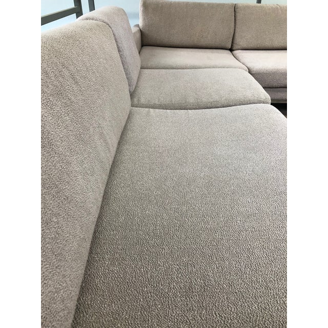 Ligne Roset Styled Sectional Modern Sofa With Chrome Base For Sale - Image 12 of 13