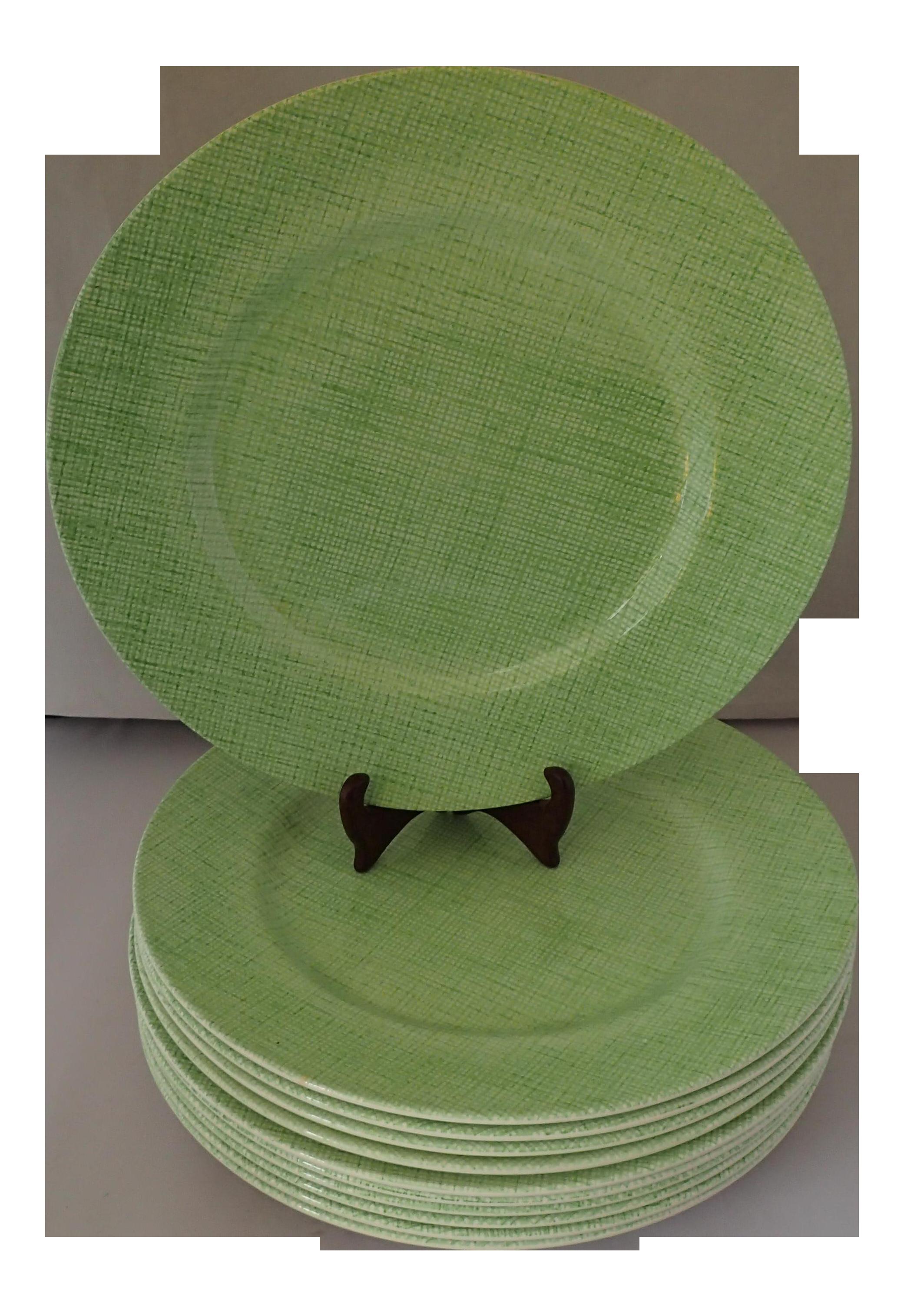 Royal Stafford Earthenware Green Dinner Plates - Set of 11  sc 1 st  Chairish & Royal Stafford Earthenware Green Dinner Plates - Set of 11   Chairish