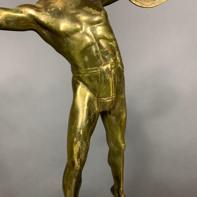 Figurative F. Thierman Bronze Gladiator Sculpture C.1900, Germany For Sale - Image 3 of 10