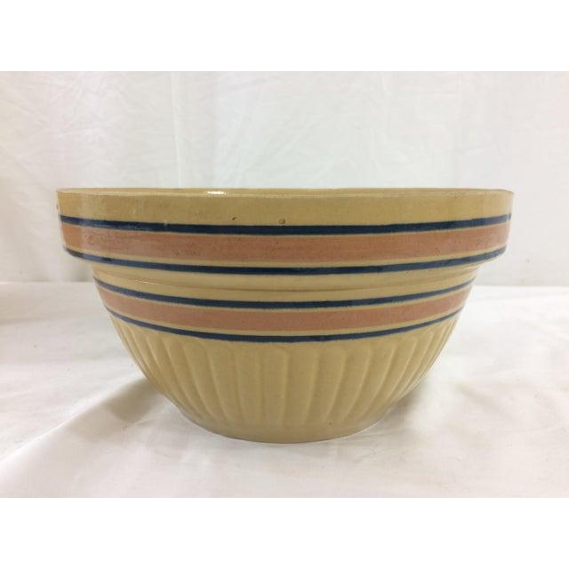 Americana Medium Autumn Yellow Weller Dough Bowl For Sale - Image 3 of 6
