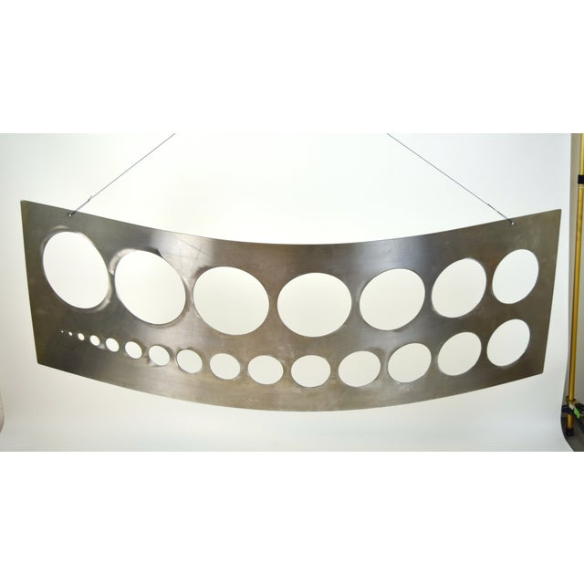 """1992 """"Template"""" Sculpture Giant Stainless Steel Drafting Template Sharon Guy For Sale - Image 9 of 10"""