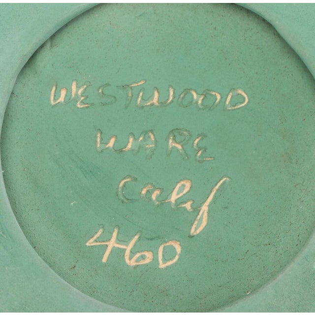 Green Vintage Westwood Ware Dish or Ashtray With 24 Kt Metallic Gold For Sale In Providence - Image 6 of 7