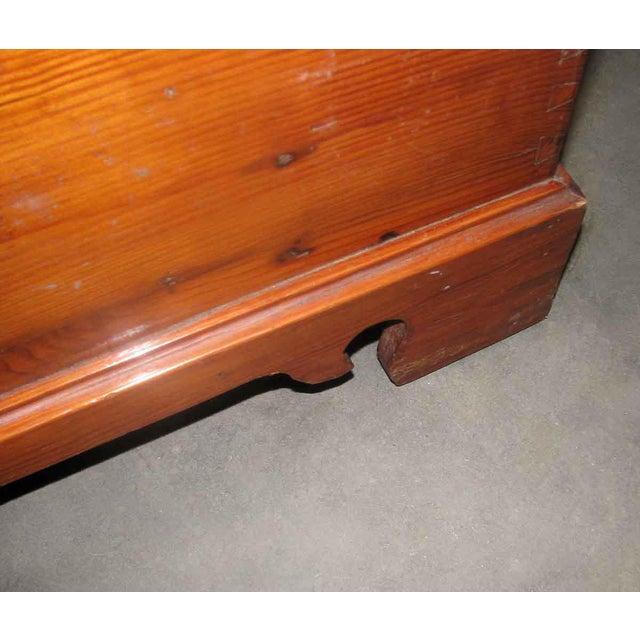 Wood Primitive Antique Pine Chest For Sale - Image 7 of 8