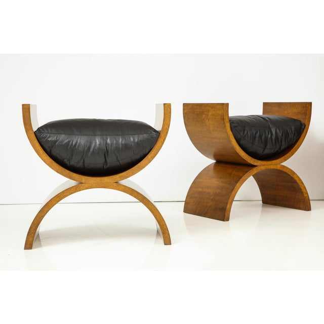 1990s Curule Benches by Jay Spectre (Set of 4) For Sale - Image 5 of 13