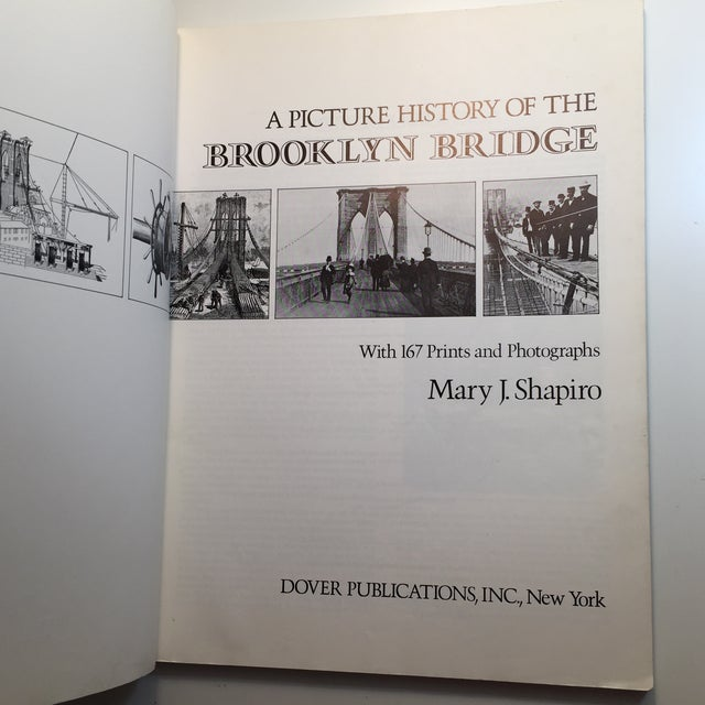 American Picture History of the Brooklyn Bridge Book For Sale - Image 3 of 11