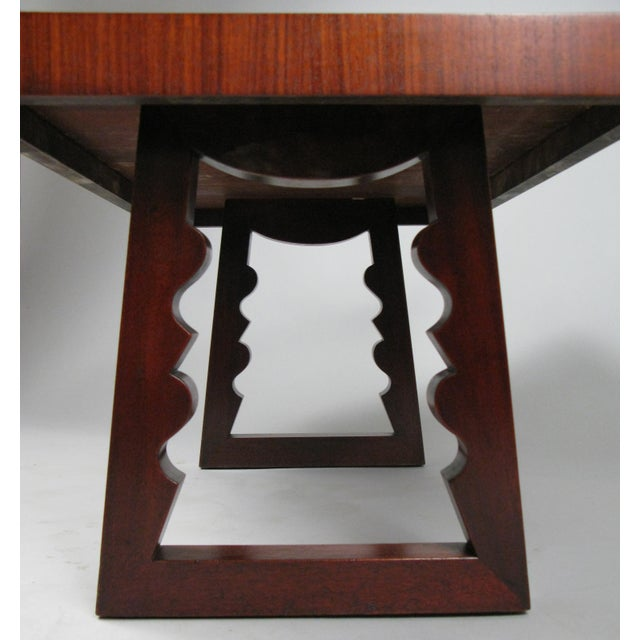Andrew Szoeke 1948 Rosewood & Mahogany Cocktail Table by Andrew Szoeke For Sale - Image 4 of 7