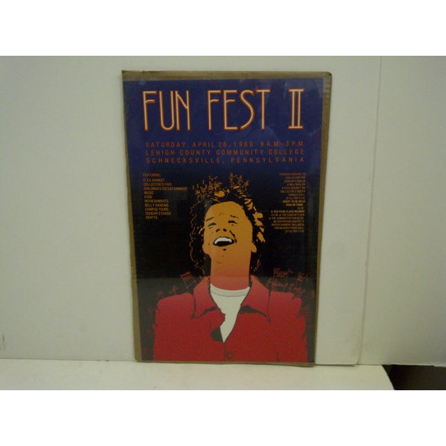 """This is a Vintage Poster -- Lehigh County Community College -- """"Fun Fest II"""" -- April 26, 1980 -- The Poster is Shrink-..."""