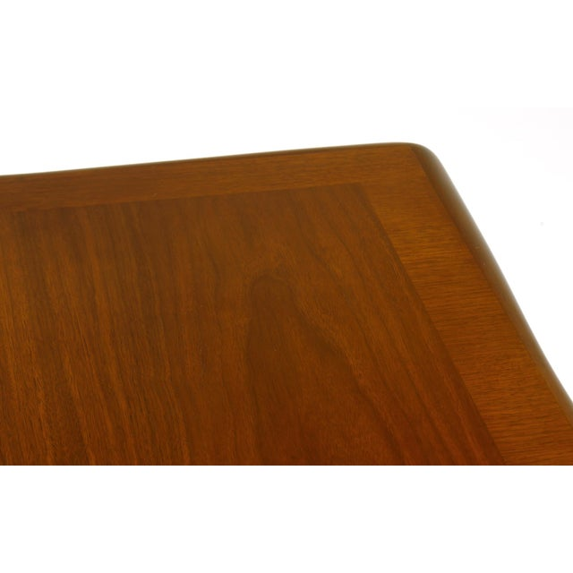 Brass Early Robsjohn-Gibbings Coffee or Side Table, Organic Walnut Form For Sale - Image 7 of 8