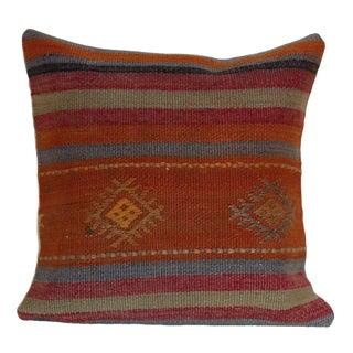 """1970s Mediterranean Turkish Rug Pillow - 16"""" X 16"""""""