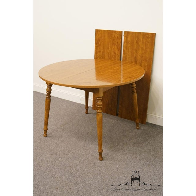 British Colonial 20th Century British Colonial Ethan Allen Heirloom Nutmeg Dining Table For Sale - Image 3 of 9